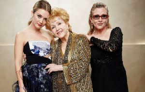 Billie Lourd, Debbie Reynolds and Carrie Fisher