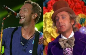 Chris Martin and Willy Wonka star Gene Wilder
