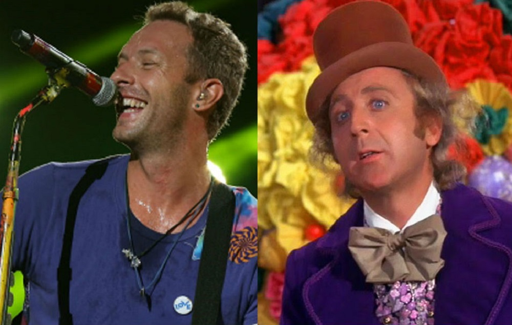 Coldplay's Chris Martin throws 'Willy Wonka And The ...