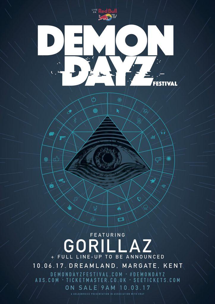 Gorillaz will be playing Demon Dayz Festival