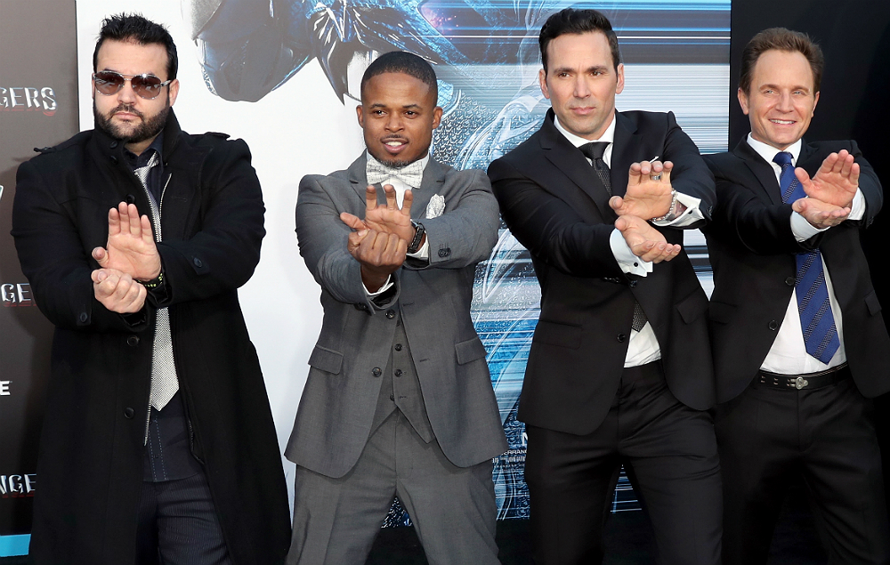 The original cast of 'Power Rangers' today