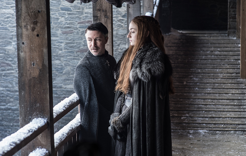 Sansa and Littlefinger in Game of Thrones season 7