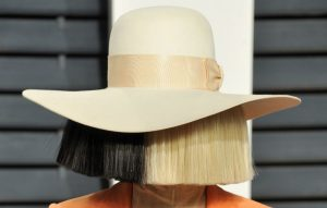 Sia wearing her usual disguise