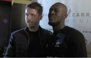 Michael Carrick and Stormzy