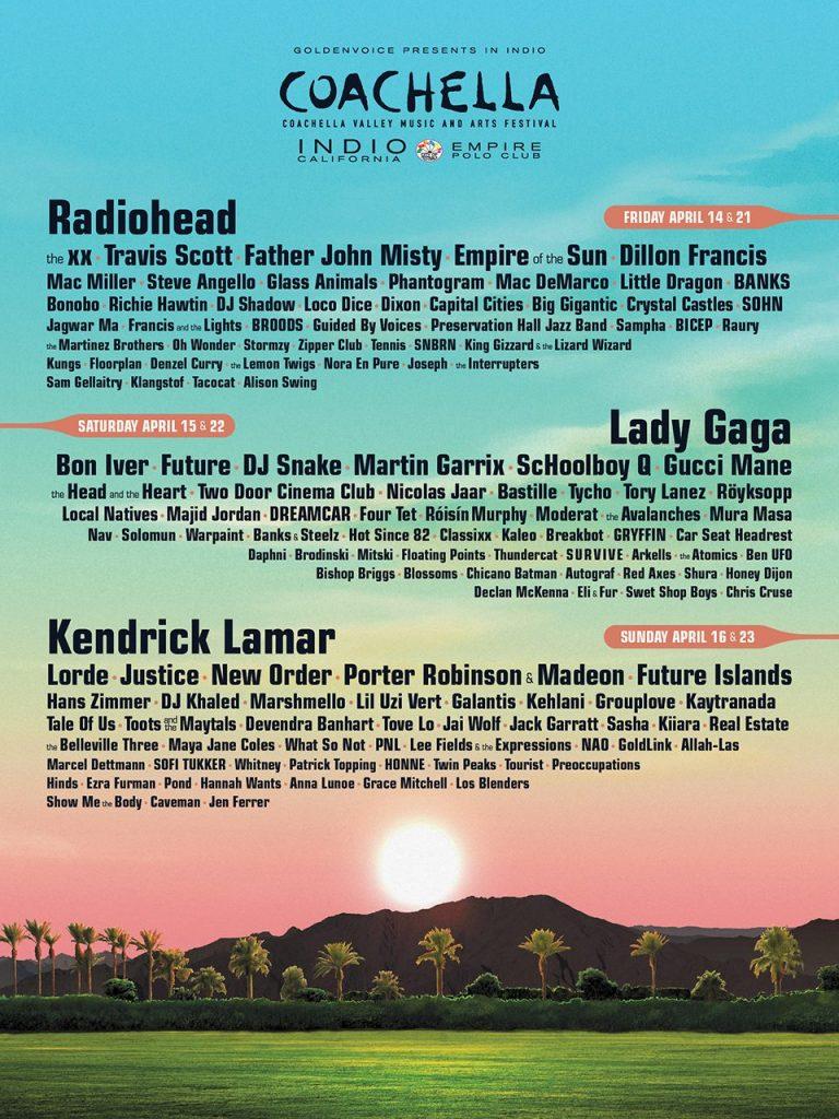Coachella 2017 line-up