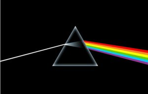 The artwork for Pink Floyd's 'Dark Side of the Moon;