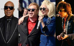 Stevie Wonder, Elton John, Lady Gaga, and Ryan Adams