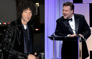 Howard Stern and Russell Crowe