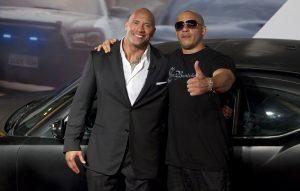 Dwayne Johsnon and Vin Diesel