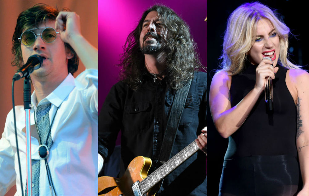 Alex Turner Dave Grohl And Lady Gaga Sign Guitar For