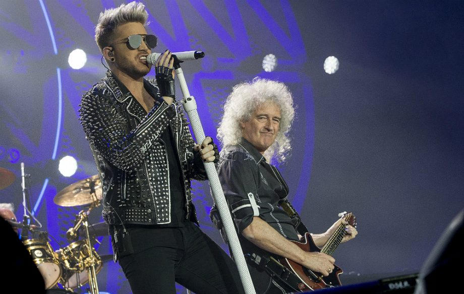 Adam Lambert with Brian May of Queen