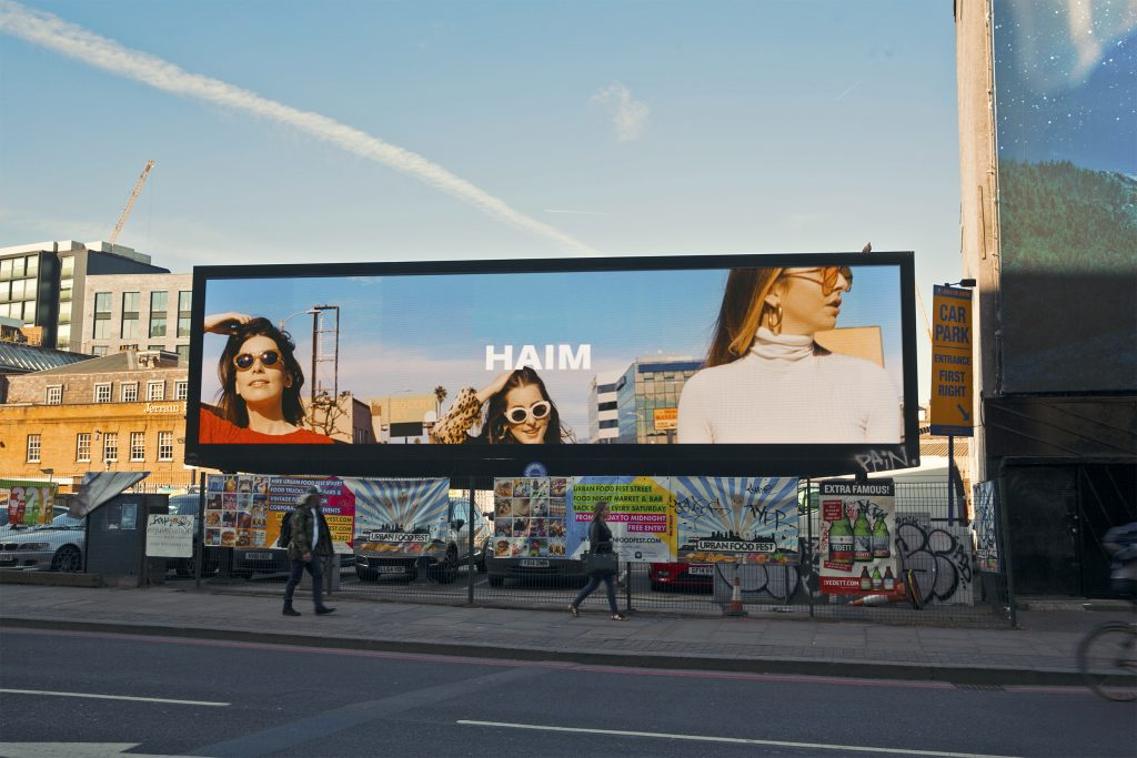 The new Haim Billboard in Shoreditch