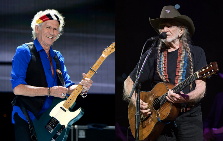 Keith Richards and Willie Nelson