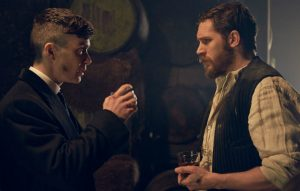 Cillian Murphy and Tom Hardy in 'Peaky Blinders'