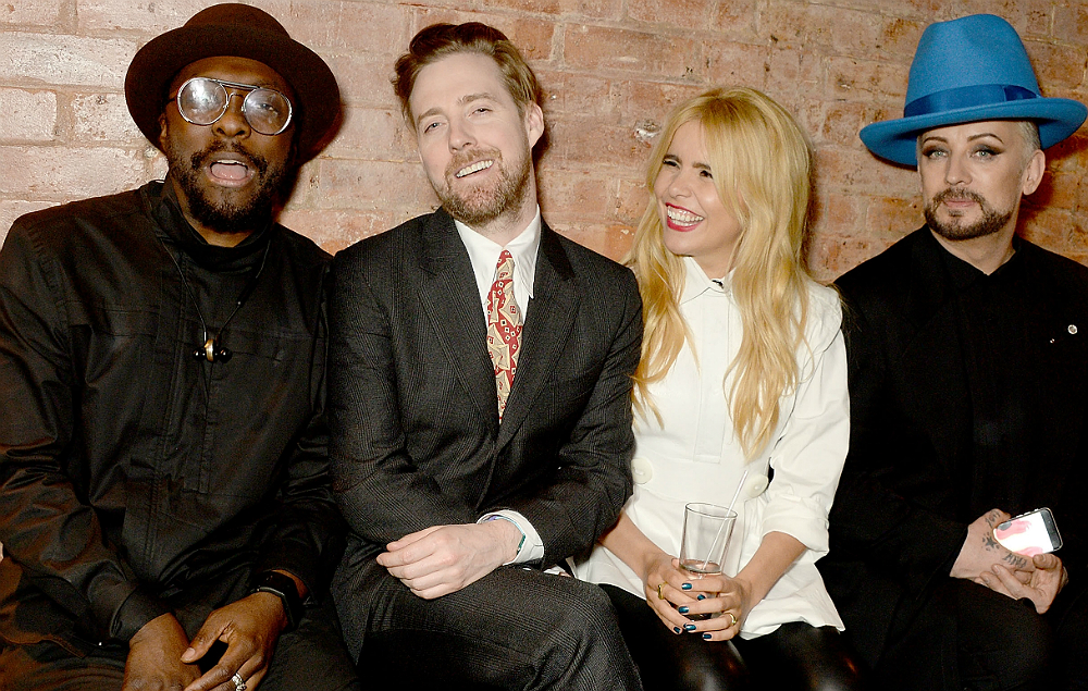 Will.i.am, Ricky Wilson, Paloma Faith and Boy George