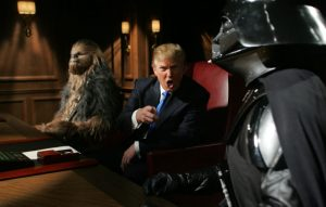 Chewbacca, Donald Trump and Darth Vader