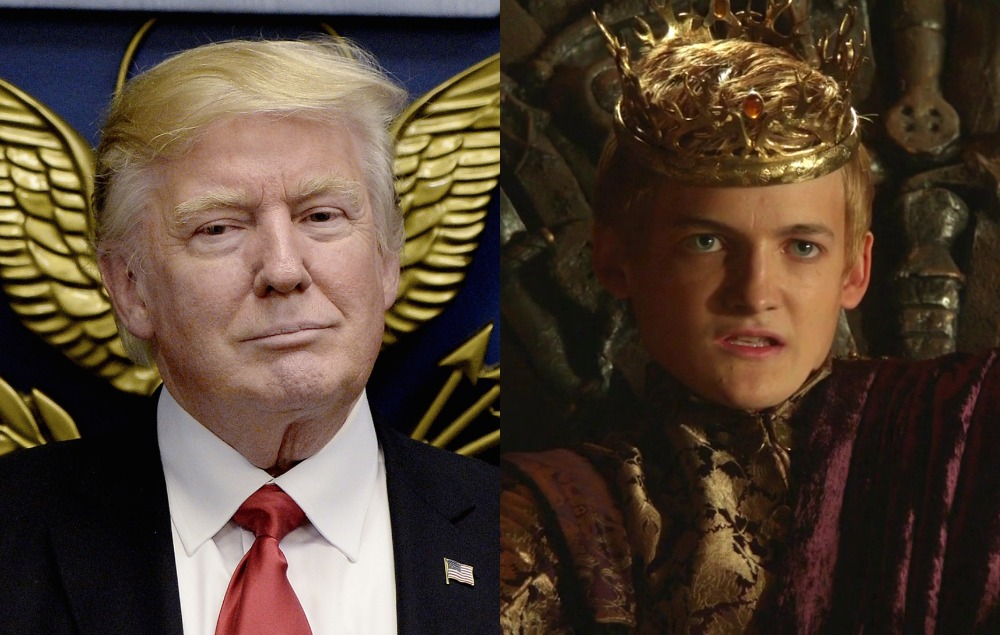 George Rr Martin Compares Trump To King Joffrey From Game
