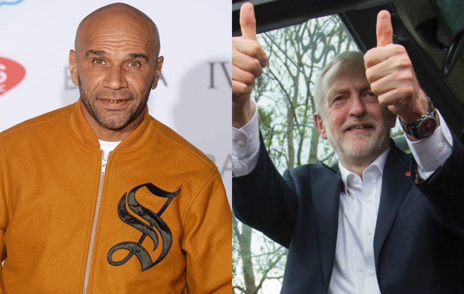 Goldie and Labour leader Jeremy Corbyn