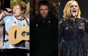 Ed Sheeran, Liam Gallagher and Adele