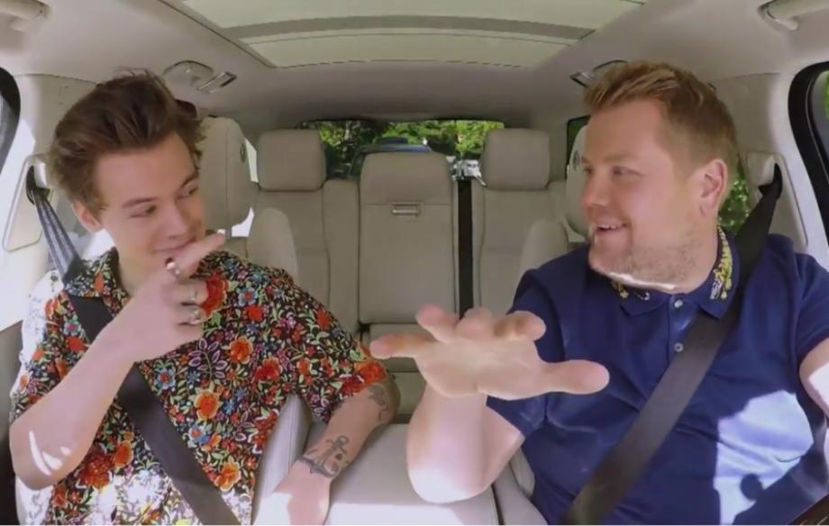 Watch Harry Styles Carpool Karaoke With James Corden Nme