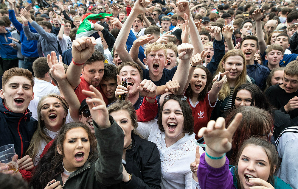 Courteeners fans at Old Trafford