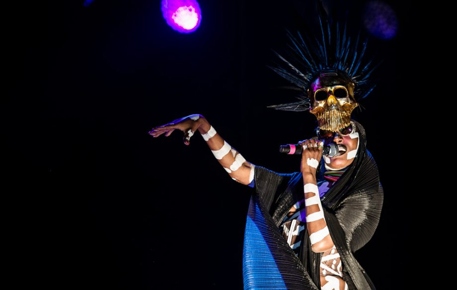 Grace Jones teases return to music with studio photo