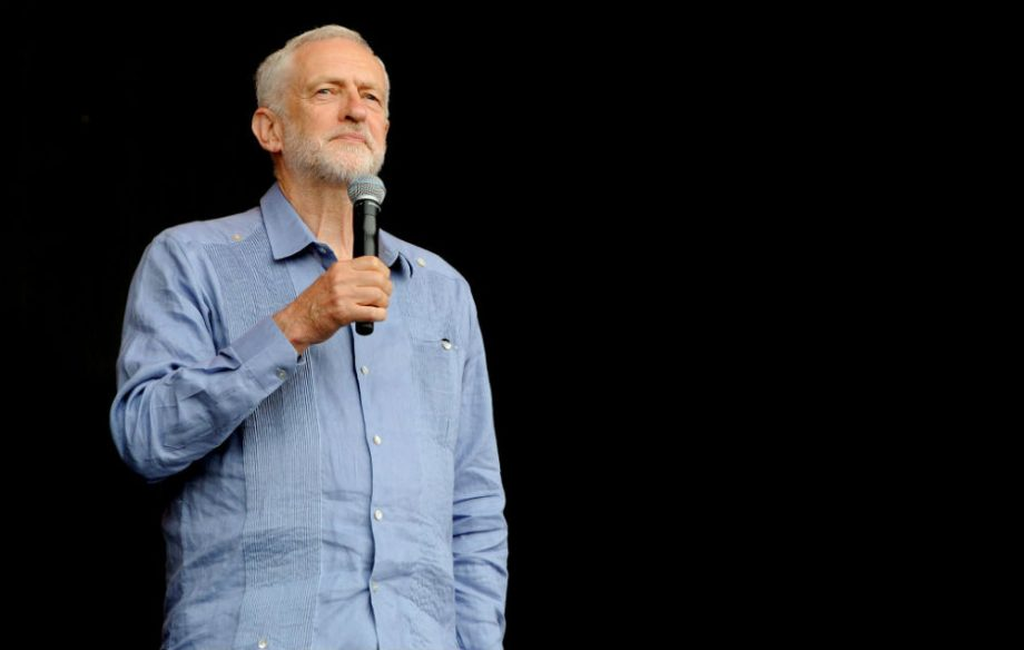 Jeremy Corbyn at Glastonbury