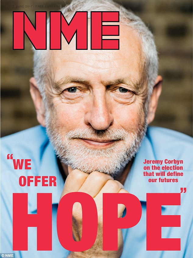 Jeremy Corbyn on the cover of NME