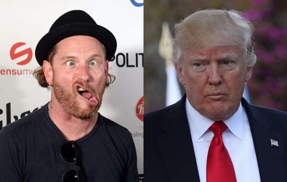 Corey Taylor from Slipknot, Donald Trump Credit: Getty