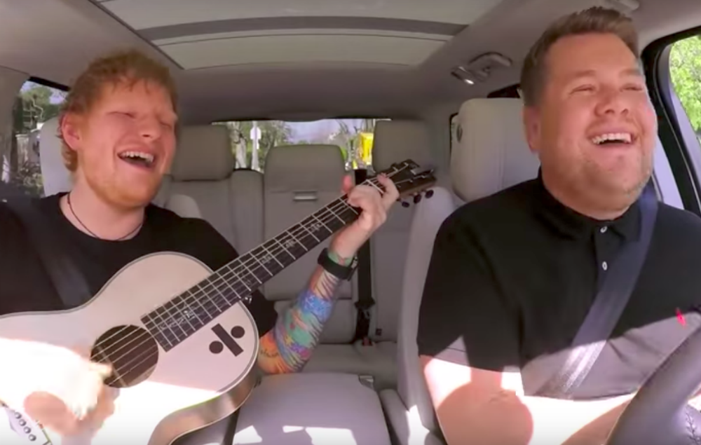 Watch Ed Sheeran And James Corden Sing Bieber And One