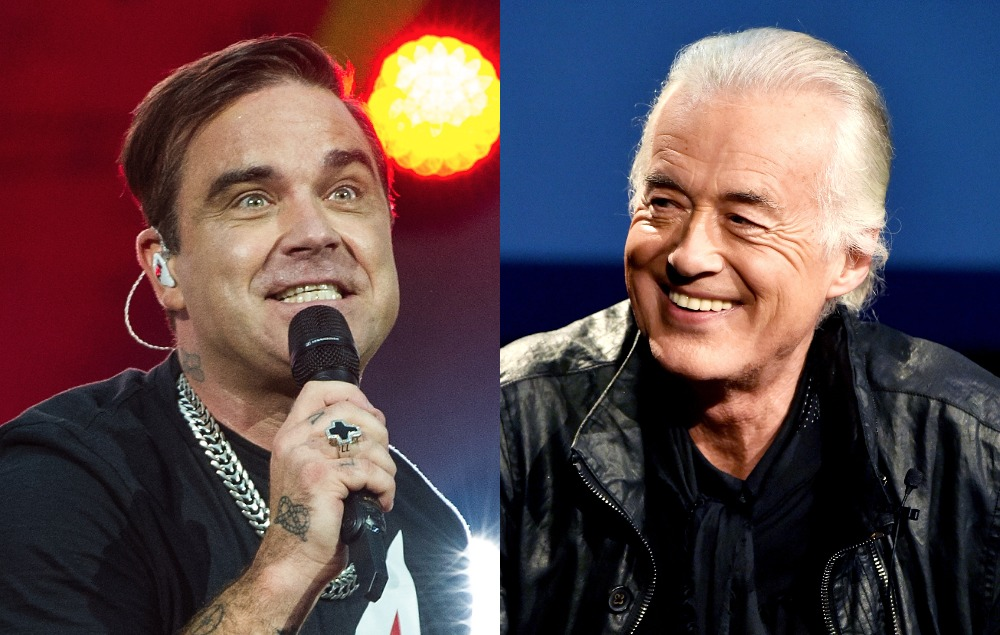 robbie williams apologises for calling jimmy page 39 mentally ill 39 nme. Black Bedroom Furniture Sets. Home Design Ideas