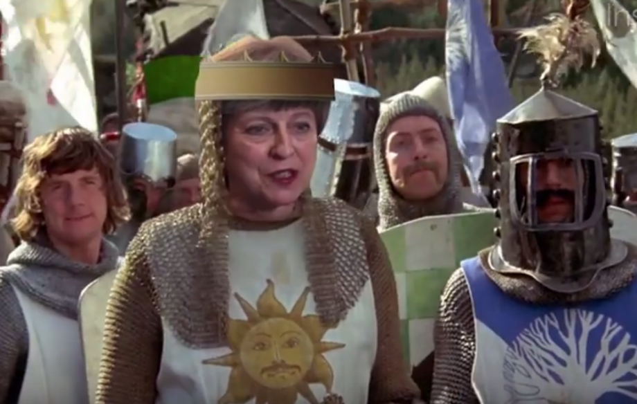 Theresa May mocked with Monty Pyton & The Holy Grail parody