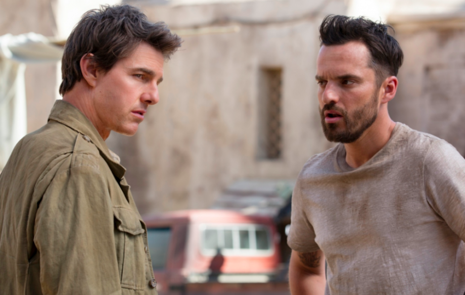 Tom Cruise. Jake Johnson in The Mummy