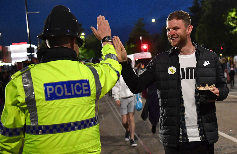 Dancing Police Officers Become Internet Stars At One Love