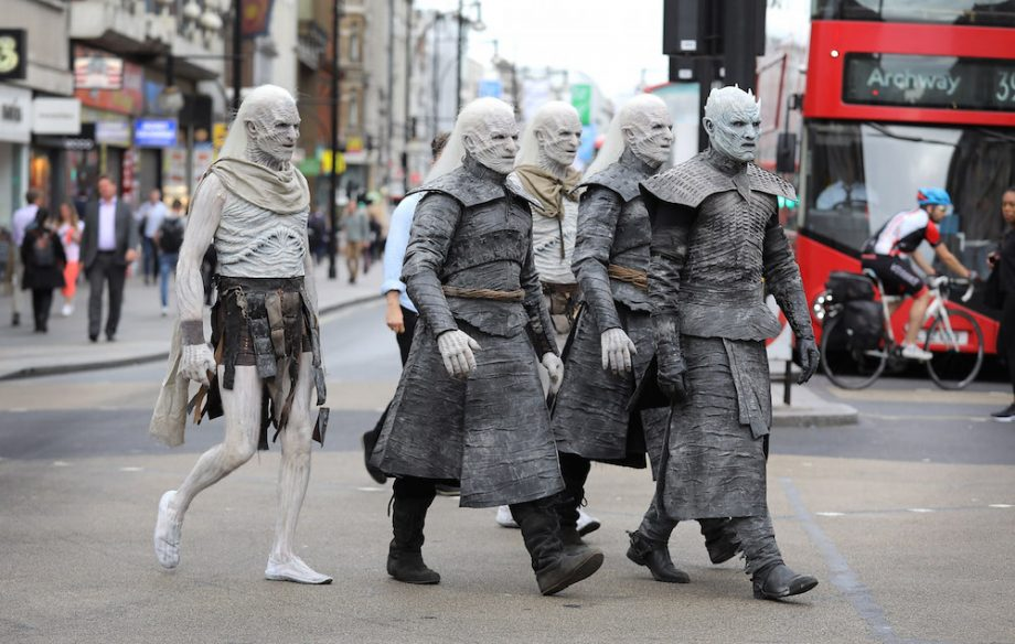 game of thrones white walkers tour london in 10 surreal pictures