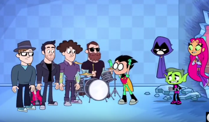Watch Fall Out Boy Appear On Superhero Show Teen Titans