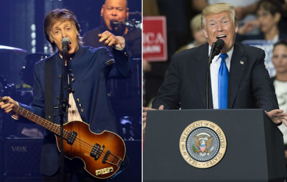 Bildresultat för Paul McCartney and Trump