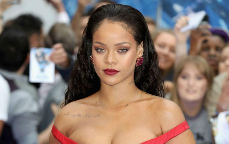 Rihanna meets French president