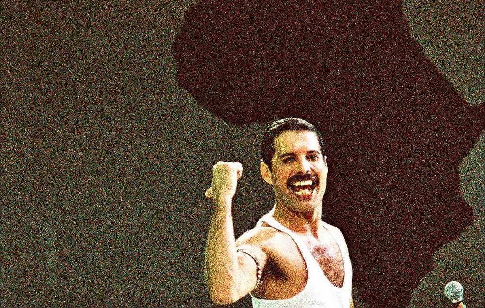 Freddie Mercury at Live Aid in 1985