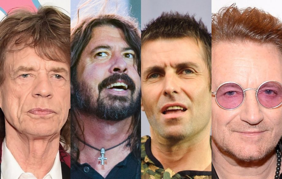 Mick Jagger Dave Grohl Liam Gallagher and Bono