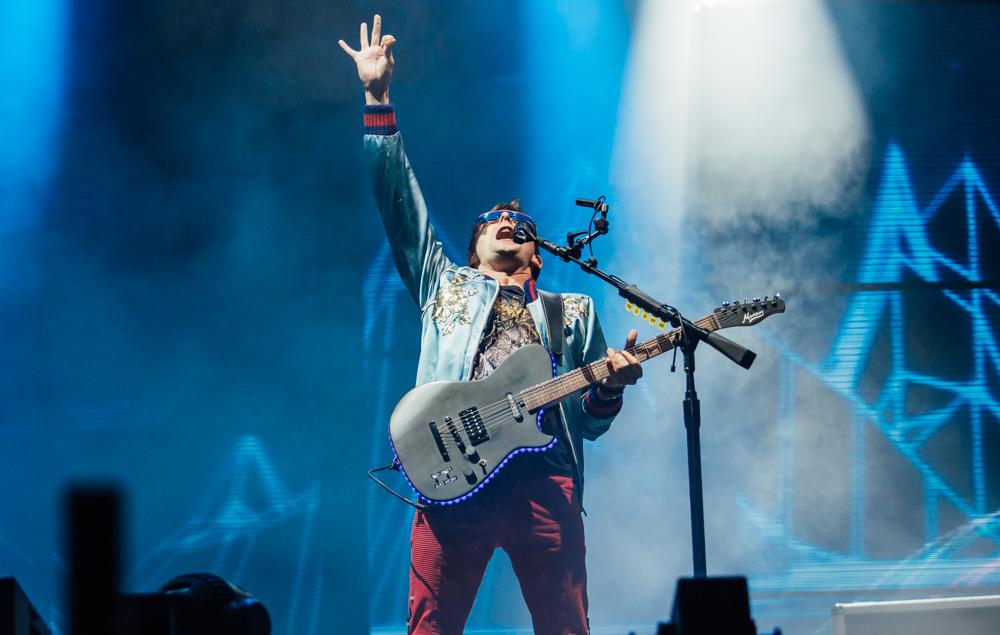 Muse's Matt Bellamy at Leeds Festival 2017