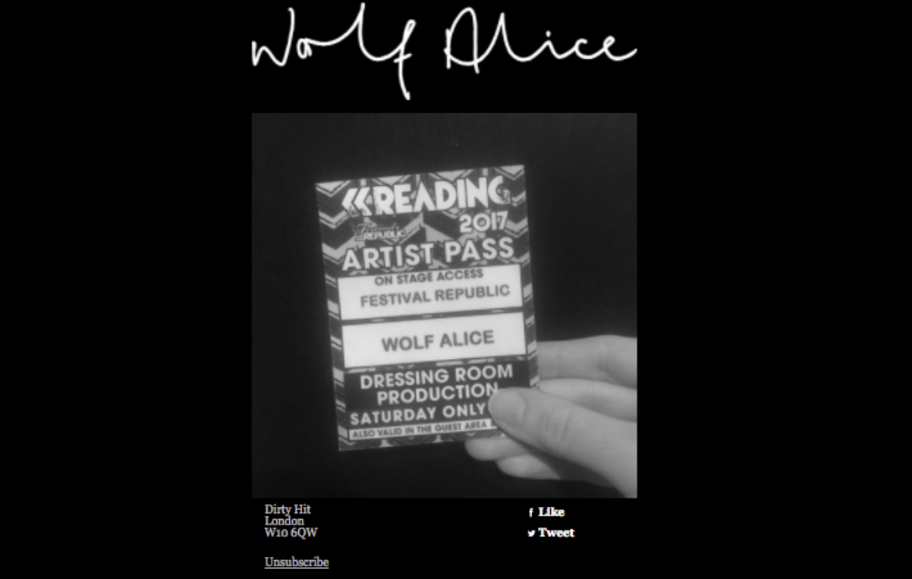 Wolf Alice secret set reading