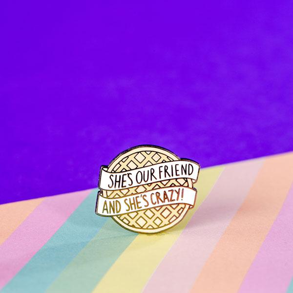 Punky Pins Eggo Stranger Things Enamel Pin Badge U2013 £7.00 U2013 Buy Now
