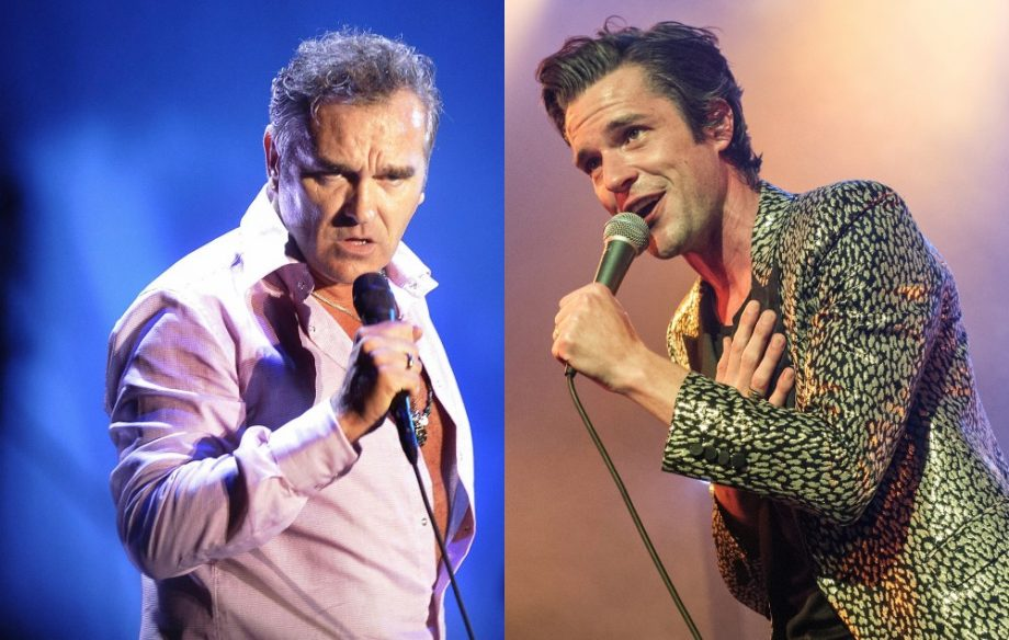 Morrissey and Brandon Flowers