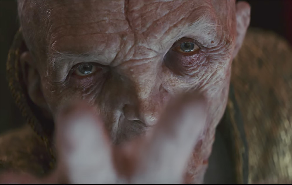 Emperor Snoke in Star Wars