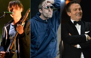 Pete Doherty, Liam Gallagher and Bradley Walsh