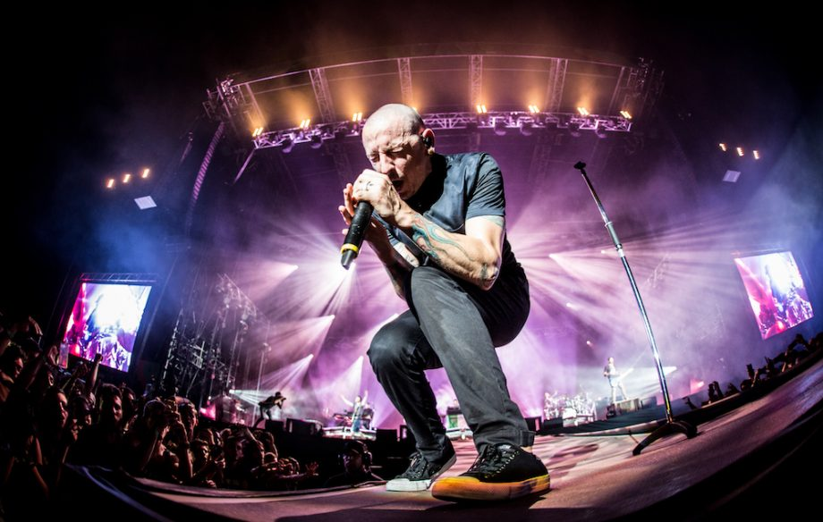 Linkin Park lead tributes to Chester Bennington on the first