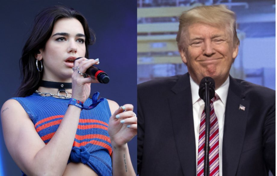 Someones made a mash up of donald trump singing dua lipas new credit getty stopboris Image collections