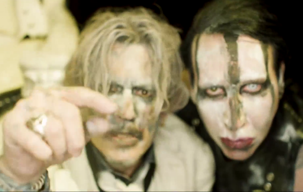 watch johnny depp star in marilyn manson 39 s gory new video for 39 say10 39 nme. Black Bedroom Furniture Sets. Home Design Ideas