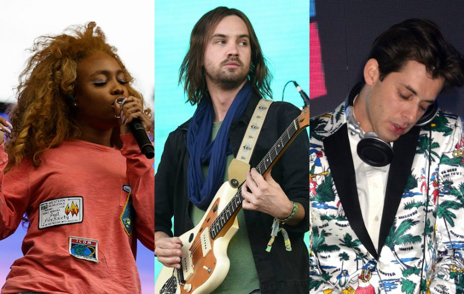 Tame Impala's Kevin Parker, Mark Ronson and SZA have
